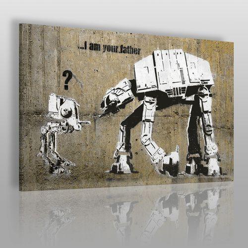 Vaku-dsgn Banksy - star wars - nowoczesny obraz na płótnie
