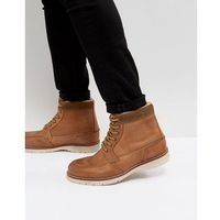 leather warm lined boots in tan - tan marki Pier one