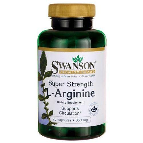 Swanson health products Swanson l-arginina super strength 850 mg 90 kapsułek (0087614117133)