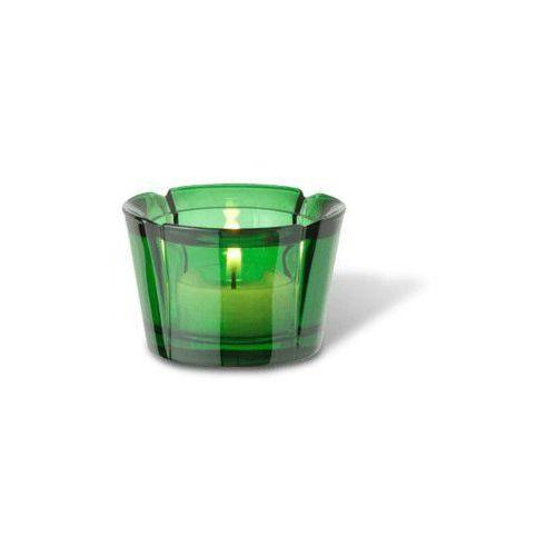 Rosendahl Szklany świecznik na tealight grand cru, ciemnozielony - (5709513355717)