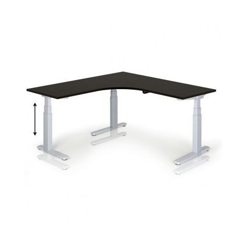 Stół z regulacją wysokości, 675-1275 mm, elektryczny, 1600 x 1600 mm, wenge marki B2b partner