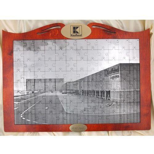 FOTO PUZZLE z dowolną fotografią w ramie drewnianej