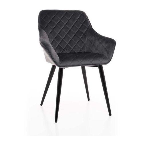 Meblemwm Krzesło tapicerowane drewniane my8683 różowy welur (9999001205457)