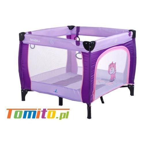 Łóżeczko Kojec dla dziecka Quadra Caretero Purple