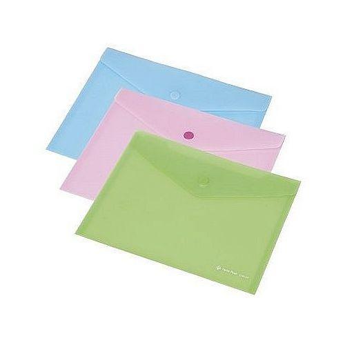 Teczka kopertowa z napą PP FOCUS A6 przezroczysta różowa Panta Plast 0410-0052-13