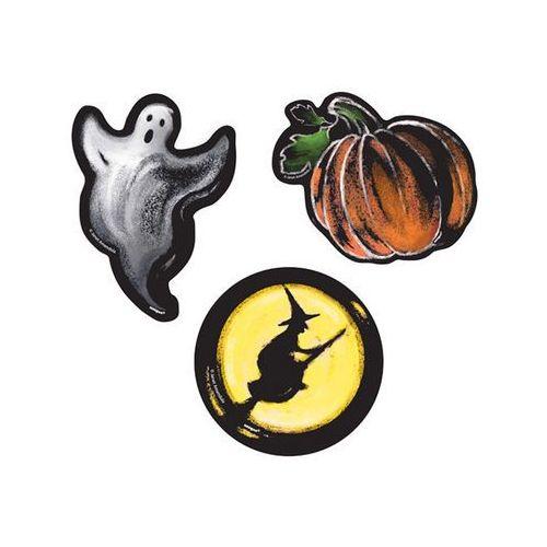 Dekoracja duch, dynia i czarownica na halloween - 6 szt. marki Unique