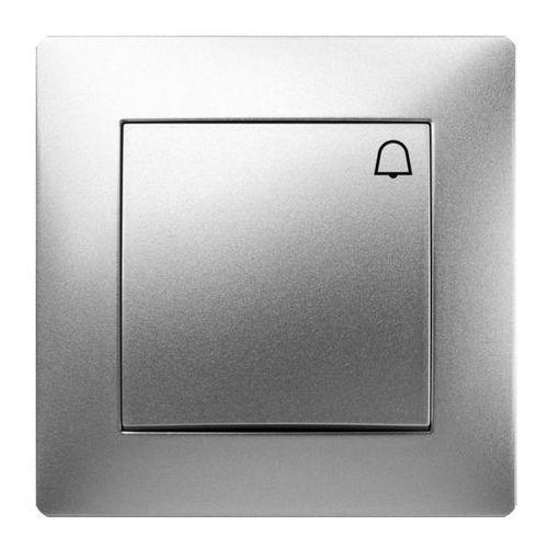 Przycisk dzwonek Elektro-Plast Volante z ramką srebrny (5902012983355)
