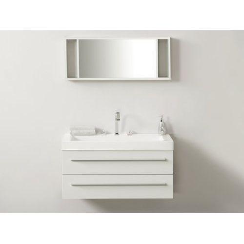 Zestaw mebli łazienkowych biały barcelona marki Beliani
