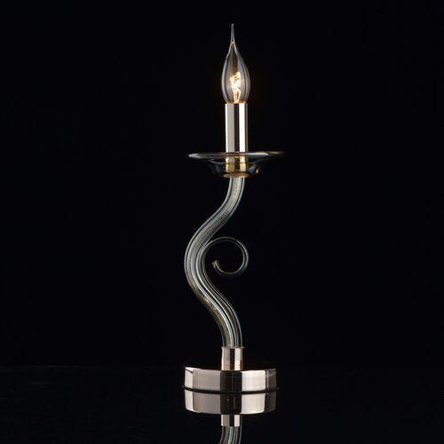 Lampa stołowa złoty chrom i szkło, bez abażura ella elegance (483033101) marki Mw-light