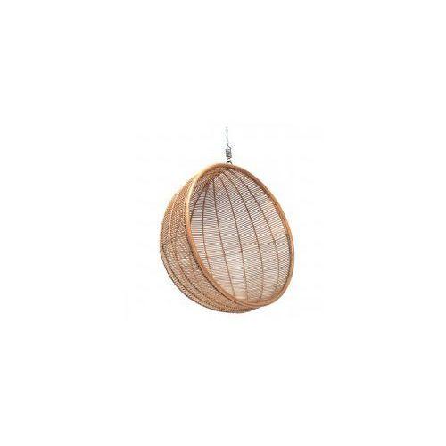 Wiszący fotel rattanowy bowl naturalny -  marki Hk living
