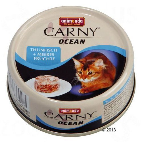 carny ocean smak: biały tuńczyk z krewetką 6x80g marki Animonda