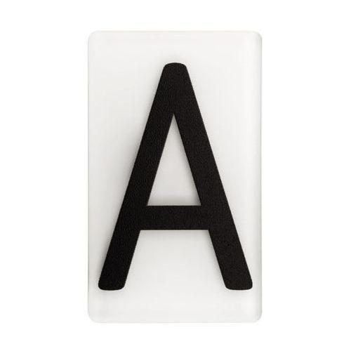 Litera A wys. 5 cm plexi czarna na białym tle