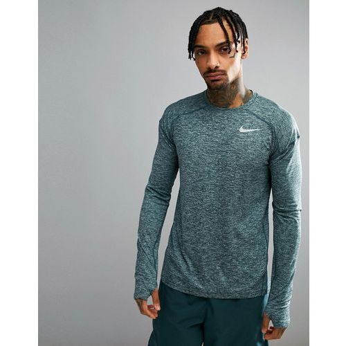 Nike Running Dry Element Crew Neck Sweat In Green 910034-328 - Green