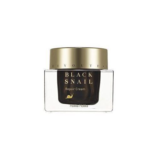 nawilżający krem do twarzy z ekstraktem ze śluzu czarnego ślimaka, prime youth black snail repair cream 50ml marki Holika holika