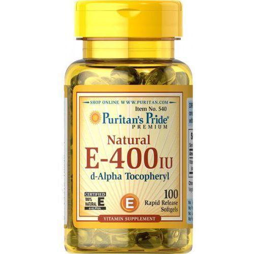 Kapsułki Witamina E 400 IU naturalna 100 kapsułek Puritan's Pride