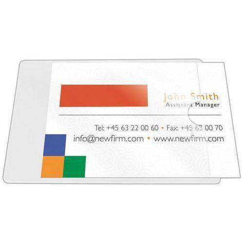Kieszeń samoprzylepna Q-CONNECT, na wizytówki, rozc. na kr. boku, 56x93mm, 10szt.