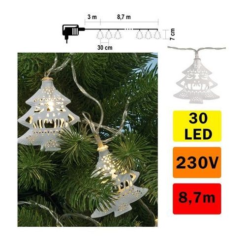LED Łańcuch świąteczny 30xLED/230V (5999084936372)