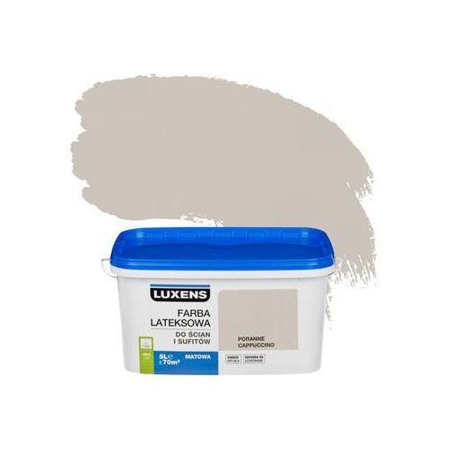 Farba wewnętrzna do ścian i sufitów emulsja 5 l poranne cappuccino marki Luxens
