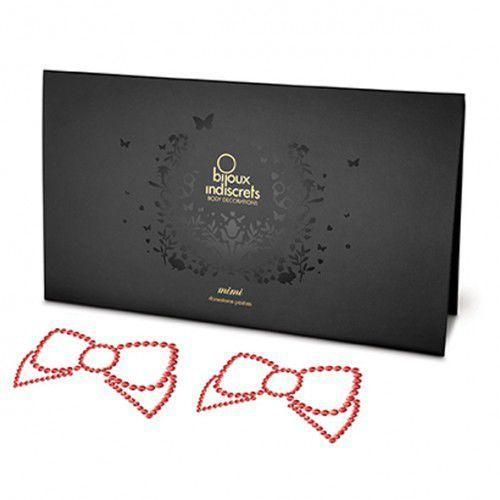 Nakładki na sutki - Bijoux Indiscrets Mimi Bow Red Kokarda Czerwona z kategorii Nakładki na sutki