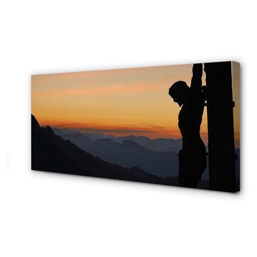 Obrazy na płótnie ukrzyżowany jezus zachód słońca marki Tulup.pl