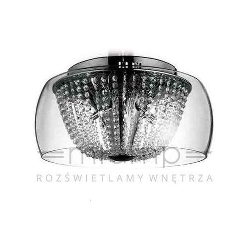 Kryształowa lampa sufitowa lexus 500 pl claro okrągła oprawa crystal przezroczysty marki Orlicki design