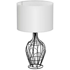 Eglo Stojąca lampa stołowa fagona 94608 abażurowa lampka nocna drut biała (9002759946081)