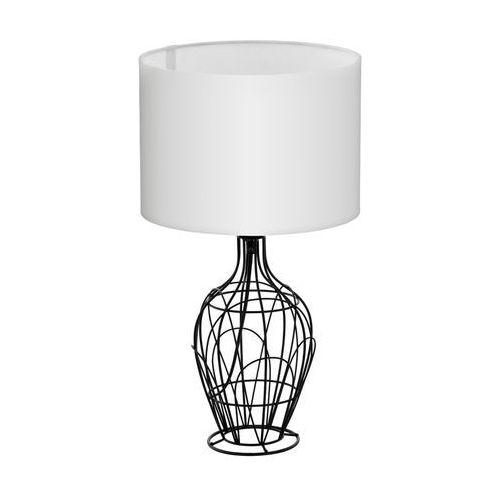 Stojąca LAMPA stołowa FAGONA 94608 Eglo abażurowa LAMPKA nocna drut biała (9002759946081)