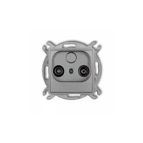 Karlik Gniazdo antenowe mini 7mg9p rtv przelotowe 9db srebrny metalik (5903268585133)