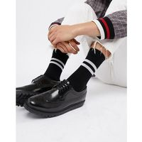 timmy brogues with wedge sole in black - black, Walk london
