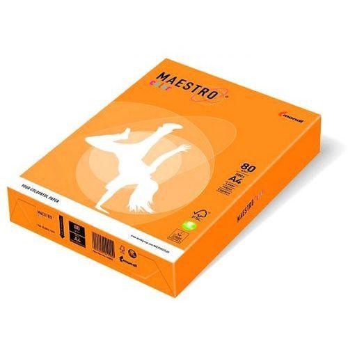 Maestro Papier ksero color a4 80g neonowy pomarańczowy neoor