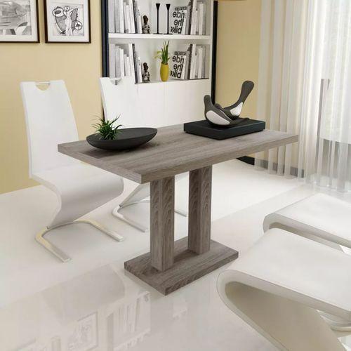 Stół z MDF stylizowany na dębowy