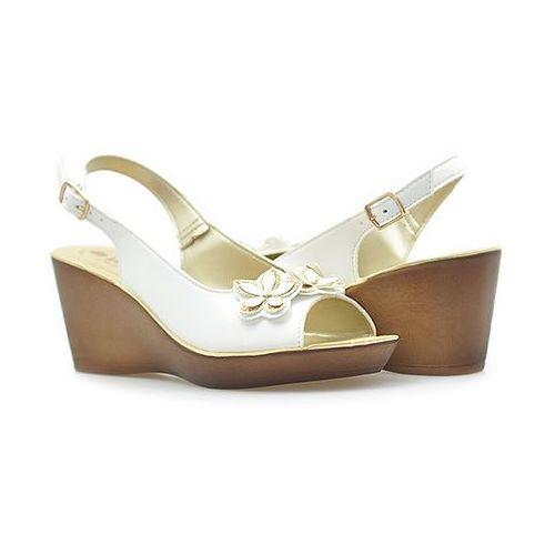 Sandały dn-18 białe marki Inblu