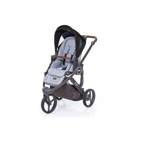 Abc design  wózek dziecięcy cobra plus graphite grey-black, stelaż cloud / siedzisko graphite grey