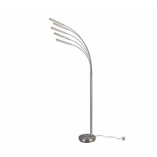 rl reed r41031507 lampa stojąca podłogowa 5x4w led niklowa marki Trio