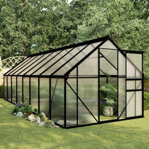 szklarnia, antracytowa, aluminium, 9,31 m² marki Vidaxl
