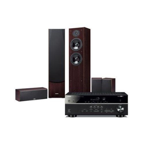 Yamaha Kino domowe rx-v485 + ns-f51/ns-p51 orzech