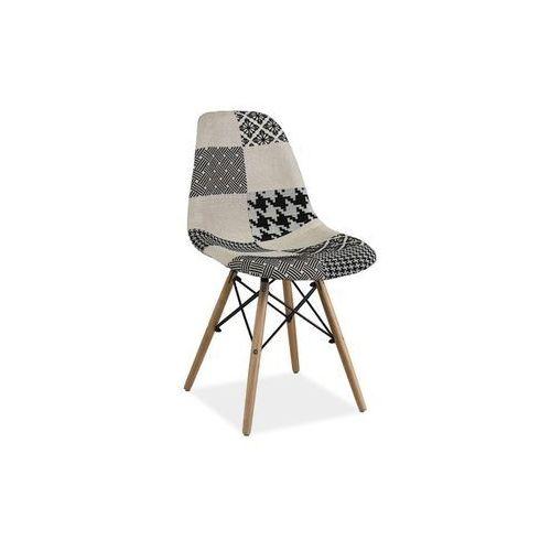 Krzesło drewniane SIGNAL SIMON B PATCHWORK
