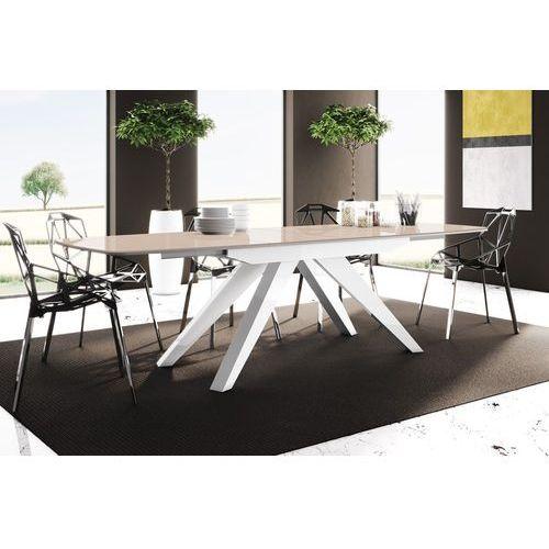 Stół rozkładany makani cappuccino biały wysoki połysk marki Hubertus design