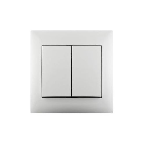 Włącznik schodowy PODWÓJNY LIKA Biały LEXMAN (3276000705154)