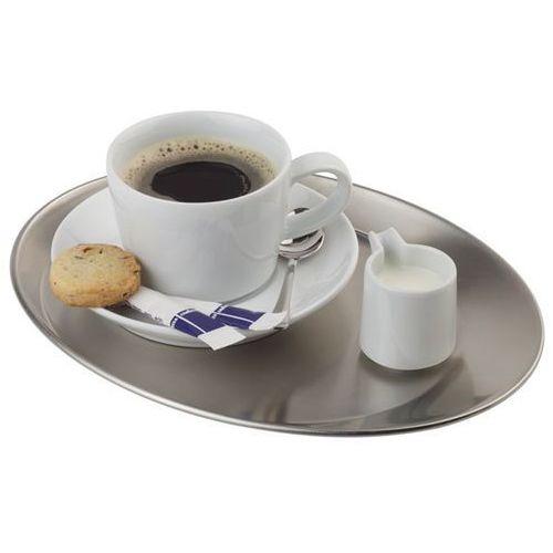 Aps Taca owalna ze stali nierdzewnej do serwowania kawy | różne wymiary
