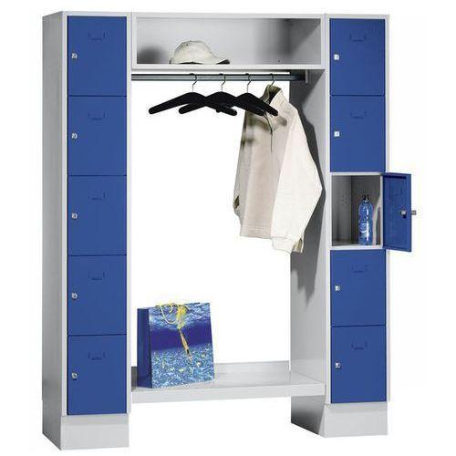 System garderob ze schowkami,10 schowków na zewnątrz, 10 wieszaków na ubrania