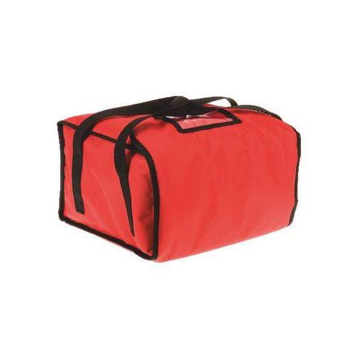 Torba wykonana z kodury na 5 pudełek o wymiarach 500x500 mm, czerwona z czarną lamówką   , eco xl marki Furmis