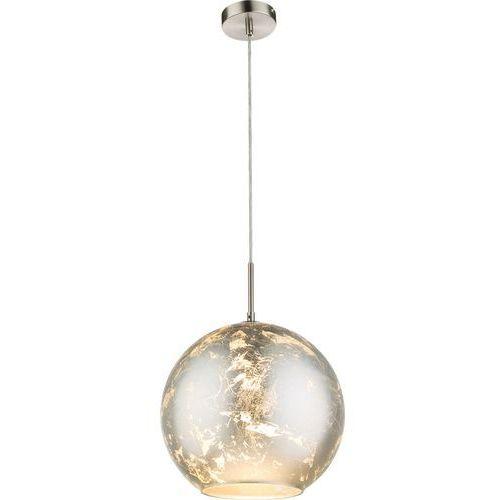 Globo Lampa wisząca zacate 54840h lampa sufitowa zwis 1x25w e27 nikiel mat / srebrny (9007371348084)