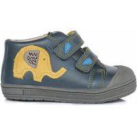 Ponte 20 chłopięce skórzane buty 25 niebieskie (8595642000331)