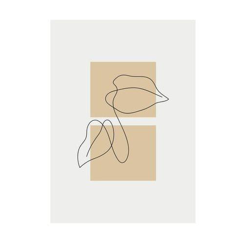 Knor Kanwa liść na beżowym tle 50 x 70 cm (5901554537569)