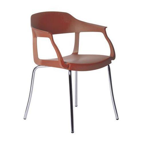 Krzesło Evo Strass P Green czerwone, GEVOSP-czerwone