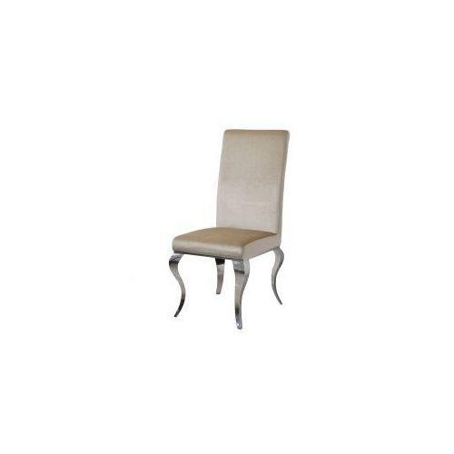 Krzesło glamour Premier Beige - nowoczesne krzesło tapicerowane (5908273397511)
