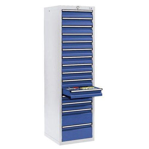 Stumpf-metall Szafka z szufladami, wys. x szer. x gł. 1800x500x500 mm, 13 szuflad o wys. 100 m