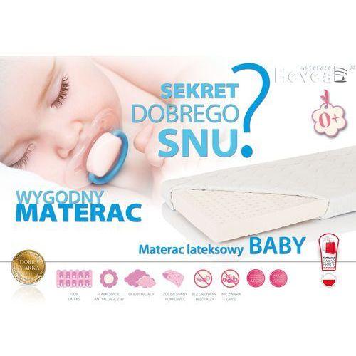 OKAZJA - Hevea Materac lateksowy baby 120x60 antyalergiczny, z certyfikatami