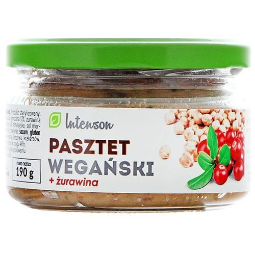 INTENSON 190g Pasztet wegański z żurawiną | DARMOWA DOSTAWA OD 200 ZŁ z kategorii Dania gotowe